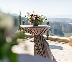 Kristin &amp; Jon - <p>Malibu Rocky Oaks<br /> Malibu, CA</p>  <p>Simple yet sophisticated this couple wanted the stunning location to sweep guests off their feet. Guests dined al fresco with chandeliers overhead while the California sun set behind the hills of Malibu.</p>