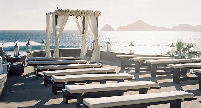 Clair &amp; Chris - <p>The Cape<br /> Cabo San Lucas, MX</p>  <p>With waves crashing in the distance and the Sea of Cortez as the backdrop this wedding was the epitome of seaside glamour with lush white blooms, mixed metals and touches of glitz throughout.</p>