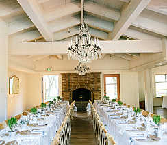 PRIVATE COUPLE - <p>Carmel Mission &amp; Gardener Ranch<br /> Carmel, CA</p>  <p>With Carmel Valley as a backdrop this wedding exudes a classic yet natural elegance with potted herbs and lavender standing as the focal point of decor, which was all sourced locally from Carmel.</p>