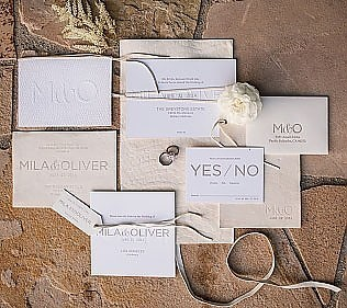 Mila &amp; Oliver - <p>Shady Canyon<br /> Irvine, CA</p>  <p>Lush, organic and wild, every luxe detail with this wedding stood out against a studied neutral palette to let the mountains and valley amplify the day&#8217;s perfection.</p>