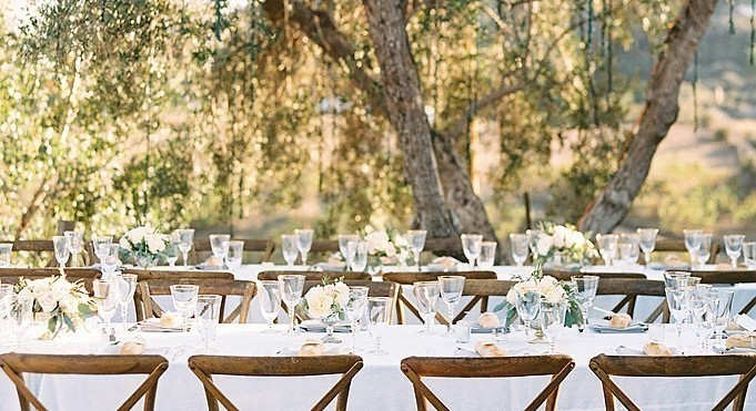 Olivia &amp; Ryan - <p>Chateau Le Dome at Saddlerock Ranch<br /> Malibu, CA</p>  <p>Inspired by the vineyards, lifestyle and the region of Tuscany this wedding evoked a natural elegance and was full of lush greens, white blooms and beautiful light to create a magical evening in the hills of Malibu.</p>
