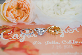 Cayla &amp; Tyler - <p>Estancia La Jolla<br /> La Jolla, CA</p>  <p>A casually glamorous wedding with an organic backdrop highlighting the natural beauty of La Jolla. Incorporating a juxtaposition of neutrals and natural materials with touches of glitz and pops of coral throughout.</p>